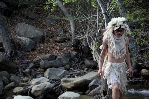 a man in a yeti costume