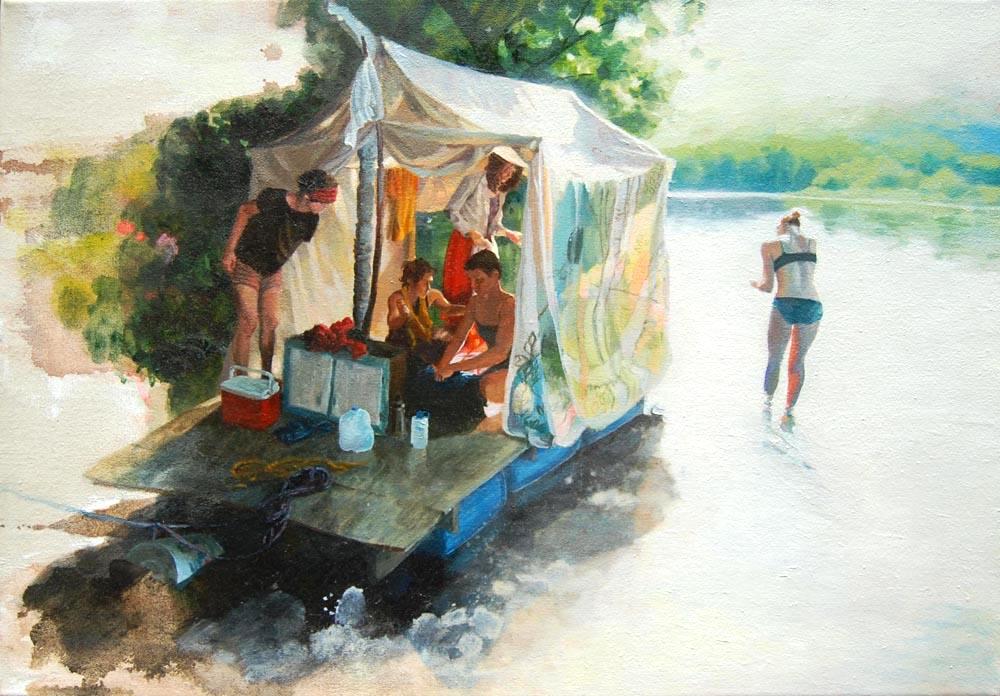 Untitled river scene 1000